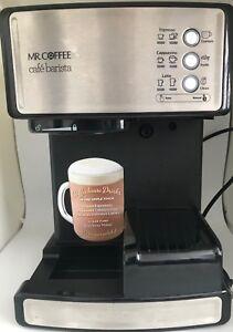 Image Is Loading Mr Coffee Cafe Barista Espresso Cappuccino BVMC ECMP1000