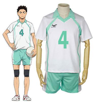 Haikyuu Iwaizumi Hajime Aoba Johsai High School Jersey NO.4 Cosplay costume