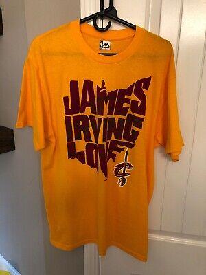 new arrival fd2e4 5cd3e Majestic Lebron James Kyrie Irving Kevin Love Ohio Cleveland Cavaliers  Shirt L | eBay