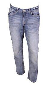 GJ12-37 Arqueonautas Herren Jeans W33 L32 blau straight leg  Stretch Used-Look