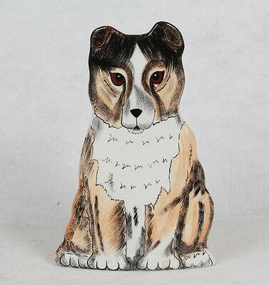 Dogs By Nina Lyman Sheltie Border Collie Ceramic Planter Flower Vase Figurine