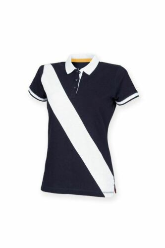 Front Row Rugby Diagonal Stripe Piqué Polo Shirt tag-free FR212