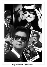 "ROY ORBISON Montage Artwork 16"" x 12"" Photo Poster"