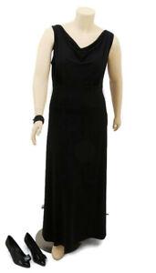 CLEAR READY TO WEAR Black Sleeveless Maxi Dress | Plus Size: 16