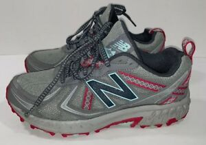 Details about New Balance Women 7 410 v5 Trail Running Shoes Women's Grey Blue Pink