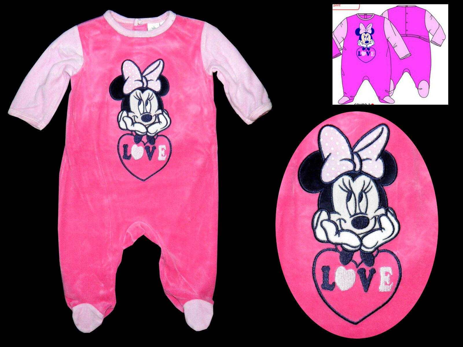 92 Neu England Disney Minnie Mouse Overall Wagenanzug Anzug Strampler Baby 86