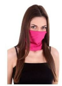 ORANGE Women Men Face Mask Covering Running Scarf Snood Buff Wrag Washable