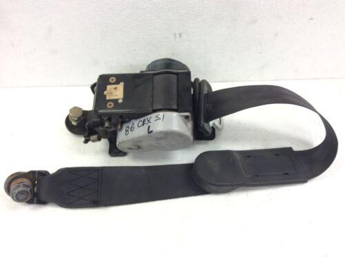 84 85 86 87 Honda CRX Left L Driver Side Front Seat Belt Seatbelt Black Used OEM