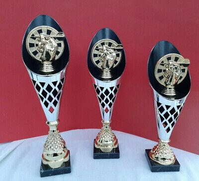 3er DART Pokale FARBIGE Glaspokale mit Deinem individuellen Text DART Pokal W203