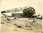 KK837 RP 1930s ERIE RAILROAD TRAIN CRANE WRECK RUTHERFORD NJ