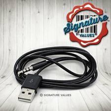 USB Cable Charger Cord for Beats Dr Dre Wireless Studio Solo Headphones 3.5mm BK