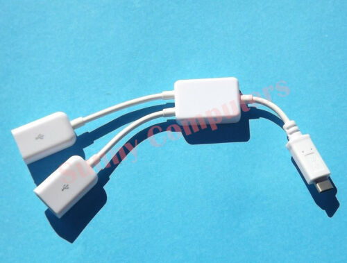 """USB 3.1 Type-C to Dual Type-A OTG HUB Adapter Cable For Samsung Galaxy Book 12"""""""