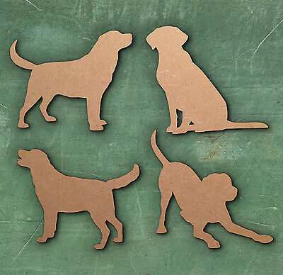 10 Pack Plywood Wooden Dog Shape Craft Blank GOLDEN RETRIEVER Dog