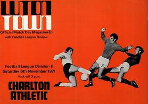 197172 Luton Town v Charlton Athletic Division 2 PERFECT CONDITION - Peterborough, Cambridgeshire, United Kingdom - 197172 Luton Town v Charlton Athletic Division 2 PERFECT CONDITION - Peterborough, Cambridgeshire, United Kingdom