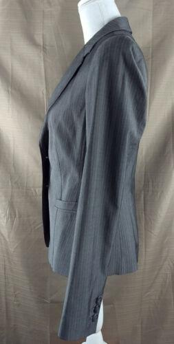 La blazer limitata righe intaglio bottoni a a taglia Nuova davanti 8 grigie 2 a Colletto giacca ErqwSr