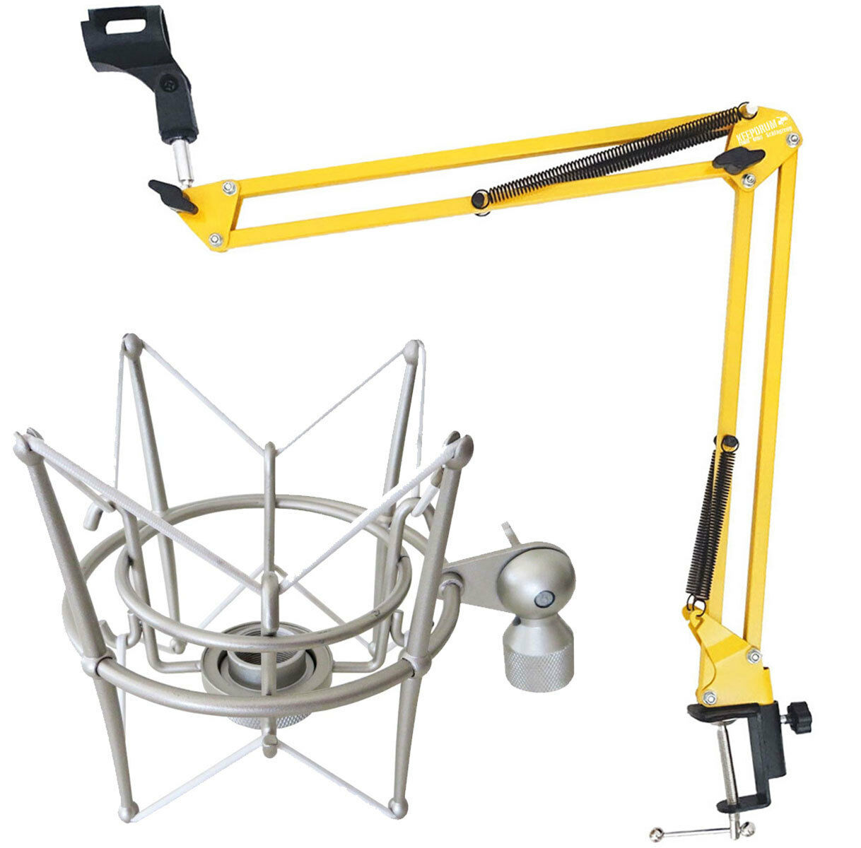 Keep DRUM NB35 YW Yellow Articulated Arm + MS089SV Spider