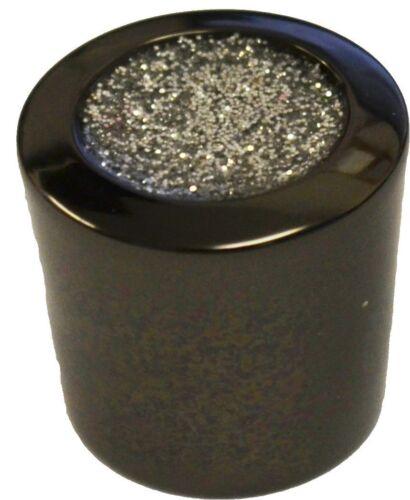 4 X GLITTER BLACK 23MM KNOB KITCHEN CABINET CUPBOARD DOOR BEDROOM DRAWER PULL