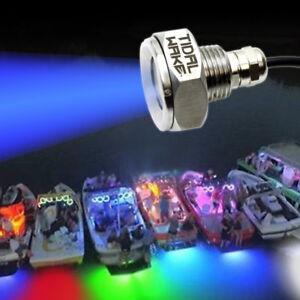 Tidal-Wake-Blue-IP68-Underwater-Boat-Drain-Plug-LED-Light-UltraBright-1800Lumen