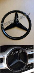 MERCEDES-A-C-GLA-GLK-CLA-CLS-E-Class-FRONT-GRILLE-STAR-BADGE-Black-Add-On-Type