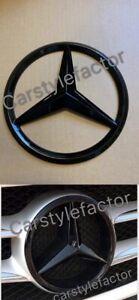 Mercedes-A-C-GLA-GLK-CIA-CLS-E-Classe-Avant-Grille-Star-Badge-Noir-Add-on-Type