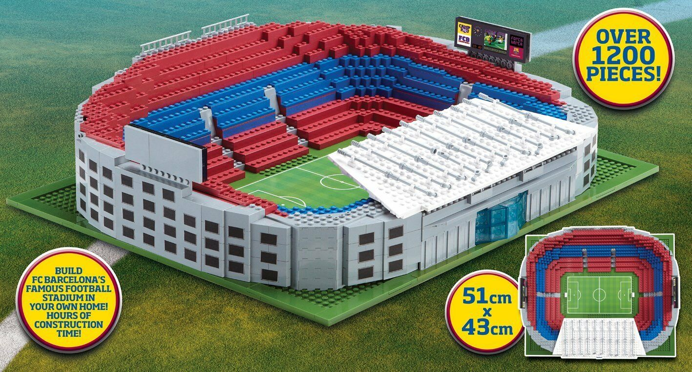 Character Building Sports Stars Barcelona's Football Nou Camp Stadium Stadium Stadium Mega Se... 3803be