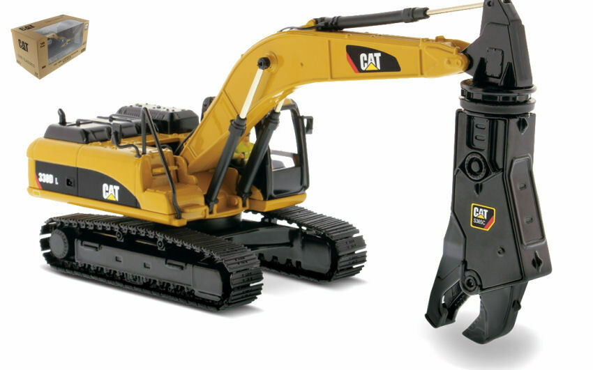 CAT 330D L Excavator With Shear 1 50 modello DIECAST MASTERS