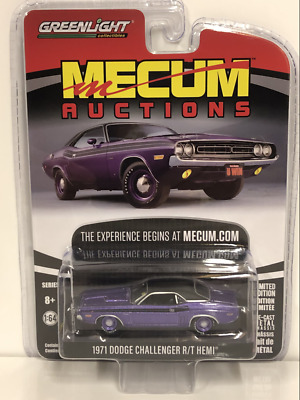 GREENLIGHT 37170 D 1971 DODGE CHALLENGER R//T HEMI HOUSTON 2018 1//64 PLUM PURPLE