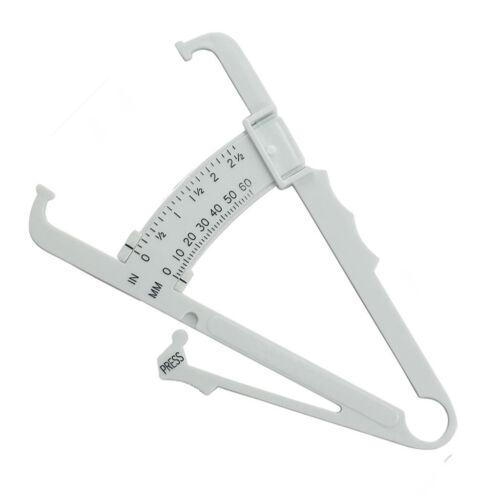 Körperfett Tester Körperfettzange Fettmesszange Caliper Gewichtsverlust Weiß