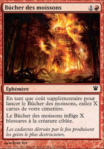 4x Bucher des moissons Harvest Pyre Innistrad FRENCH #146