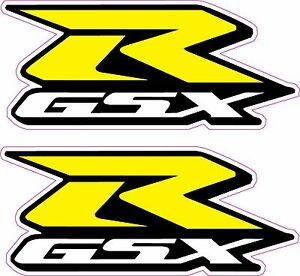 X GSXR Suzuki Motorcycle StickersYellow RDecals Quality - Suzuki motorcycles stickers