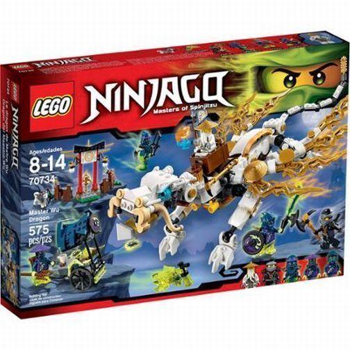 70734  MASTER WU DRAGON lego legos set NEW ninjago NISB ninja COLE ghost ninja
