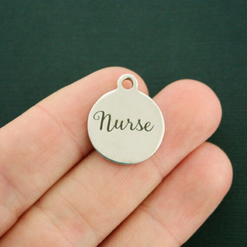 Quantity Options Exclusive Line BFS2130 Nurse Stainless Steel Charms