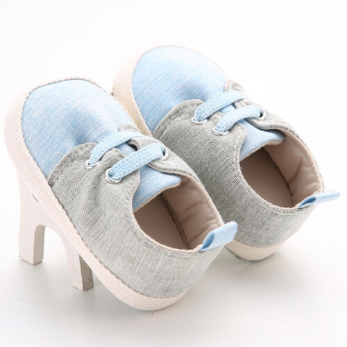 Toddler Prewalker Girls Boys Lace-up Crib Shoes Newborn Baby Soft Sole Sneakers
