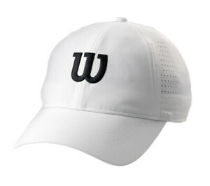 Wilson-Ultralight-Tennis-Cap-Badminton-Hat-Squash-White-UV-Protection-WRA777101