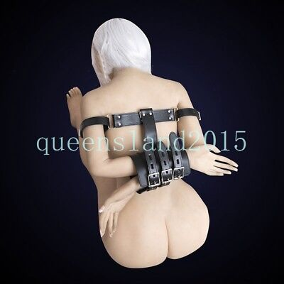 Other Sexual Wellness Black Body Restraint Hand Harness Handcuffs Lockable Slave Bondage Pu Leather Sexual Wellness