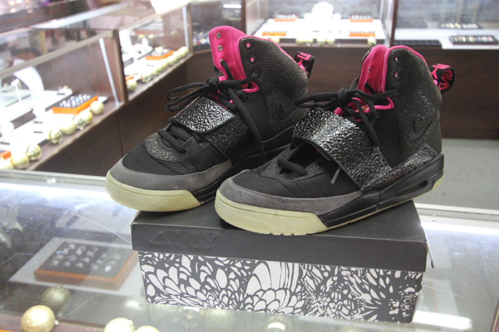 Nike Air Yeezy 1 Blink Black Pink Size 11 366164-003 2009