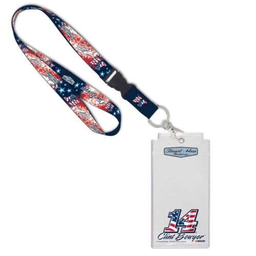 Clint Bowyer 2018 Wincraft #14 Patriotic Lanyard W//Credential Holder