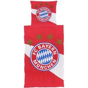 Fc Bayern München Bettwäsche Rot Weiß Biber Fc Bayern München Logo