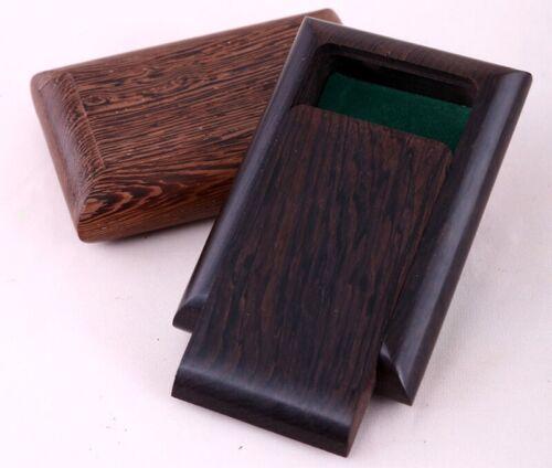 Wooden Reed Case Ebony Wenge Wood Storage Holder Box Cover