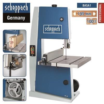 Scheppach Bandsäge BASA1 Professional + Sägeband bis Breite/Höhe 195/100mm Holz