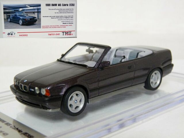 Hobby43 1/43 1989 BMW M5 E35 E34 Cabriolet Concept Handmade Resin Model Car