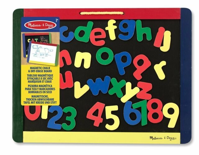 Melissa & Doug Magnetic Chalkboard and Dry-Erase Board With 36 Magnets