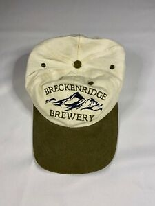 Breckenridge-Brewery-Colorado-Adjustable-Baseball-Cap-Hat-NWOT-Off-White-Green