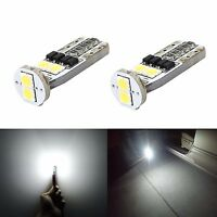 JDM ASTAR 2x LED License Plate Tag Lights T10 Super White LED Bulbs 194 168 2825