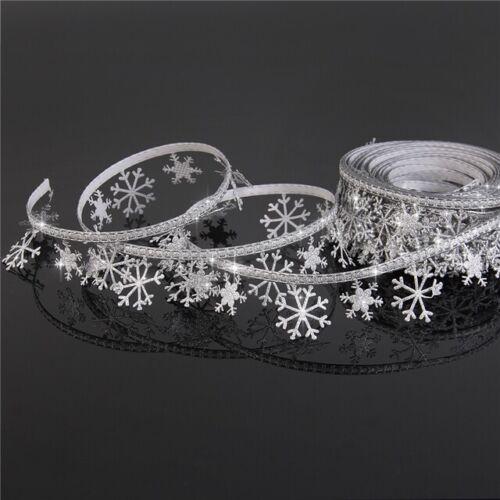 webband cenefa 4229 copos de nieve 30mm ancho grosgrain