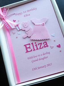 Image Is Loading 1st BIRTHDAY CARD Daughter Granddaughter Niece Handmade Personalised