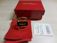 Salvatore Ferragamo Boxed Gold Scarf Ring Holder Mint Condition!!!