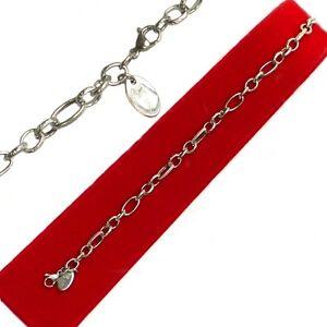 Armkette-Bettelarmband-Edelstahl-diamantiert-Laenge-19-cm-amp-21-cm-Breite-6-4-mm