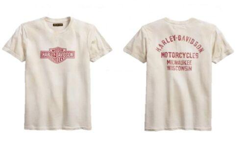 Harley-Davidson ® Men/'s vieilli logo Slim Fit à manches courtes T-shirt 99094-18VM