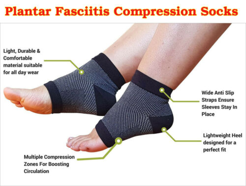 Plantar Fasciitis Socks Foot Compression Sleeves Arch Heel Ankle Pain Support